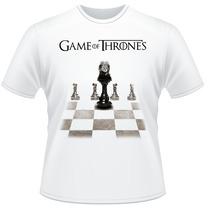 Camiseta Game Of Thrones Trono Xadrez Frente Verso Camisa