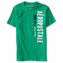 Camisetas Originais Aeropostale Cor Verde