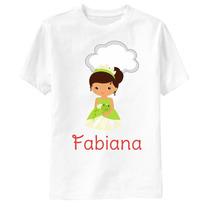 Camiseta A Princesa E O Sapo Personalizada - Tiana E Nuvem