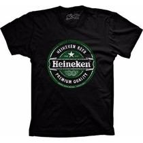 Camiseta Heineken Beer Cerveja Heineken Modelo Tradicional