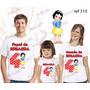 Camiseta Branca De Neve Aniversário Personalizada Kit Com 3