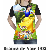 Camiseta Blusa Branca De Neve Disney Feminina 002