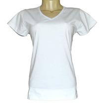 Camiseta Baby Look Feminina Gola V 100% Poliéster Sublimação