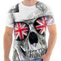 Camiseta Camisa Caveira Bandeira Inglaterra Skull England 03