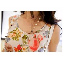 Blusa Floral Camisa Feminina Estampa Flores Blusinha Leve