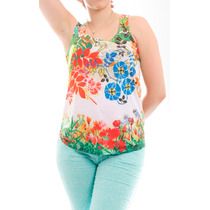 Blusa Estampa Exclusiva Floral Regata - Loja De Fabrica