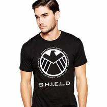 Camiseta S.h.i.e.l.d. Camisa Super Heróis Shield