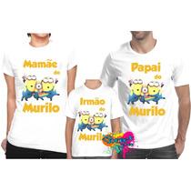 3 Camiseta Personalizada Minion - Estampa Grande