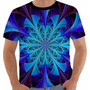 Camiseta Hippie 4 - Color - Vitral - Arte - Anos 60 Fractal