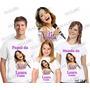 Camiseta Violetta Personalizada Aniversário Kit Com 3