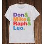 Camiseta Masculina Don Mike Raph Leo Tartarugas Ninja Cinema