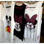 3 Camisetas Feminina Com Personagens Da Disney.