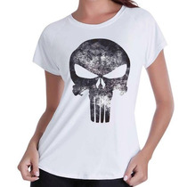 Babylook T-shirt Justiceiro- +frete Mais Barato