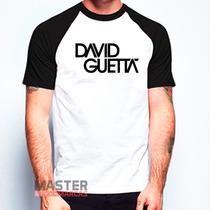 Camiseta Raglan David Guetta Personalizada Balada Festa
