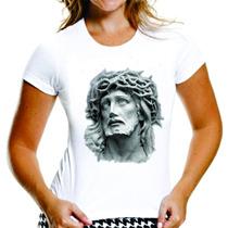 Jesus Cristo Imagem - Camiseta Básica Baby-look Feminina