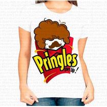 Entrega Rápida Camiseta Feminina Pringles Black Power Afro
