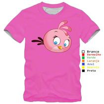 Camisa Camiseta Angry Birds Jogo Passarinho Modelos Variados