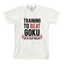 Camiseta Goku Treino Gym Academia Dragon Ball