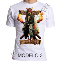 Camiseta Piratas Do Caribe, Filme, Caveira