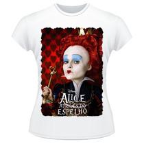 Baby Look Alice Através Do Espelho Rainha Vermelha Red Queen