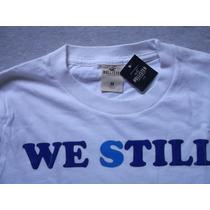 Camiseta Em Malha Hollister Tam.m. Original Nova Só R$69,00