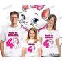 Camiseta Gata Marie Aniversário Personalizada Kit Com 3