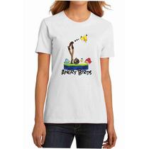 Camiseta Angry Birds Masculina, Feminina, Infantil Camisa