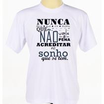 Camisa Camiseta Estampada Banda Legião Urbana Frases