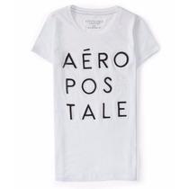 Camiseta Feminina Aeropostale Aero Original Nova Branca