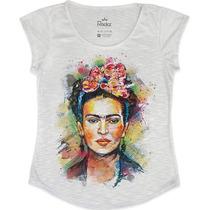 Blusinha Feminina Frida Kahlo Aquarela