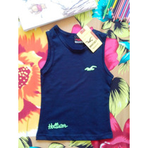 Camiseta Regata Infantil Hollister! Pronta Entrega!