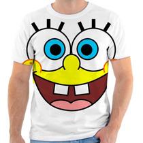 Camiseta Camisa Bob Esponja Estampada, Masculina E Feminina