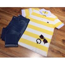 Conjunto Camiseta Polo Original E Calça Jeans Moda Masculina