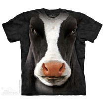 Camisa 3d Black Cow Face The Mountain Original