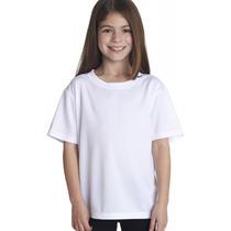 Camisa Camiseta Infantil Juvenil Branca Preta 100% Algodão