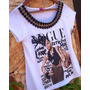 Tshirt Vogue Pedraria Bordada Customizada Camiseta Tee