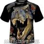 Pacote 6 Camisetas - Camisa Dinossauro 3d - Frete Grátis