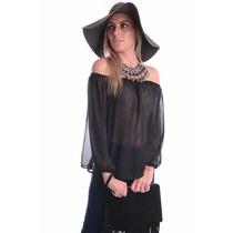 Blusa Ciganinha De Chiffon - Kam Bess - Bl1189
