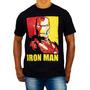 Camiseta Iron Man Homem De Ferro Avengers Masculino Camisa