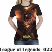 Camiseta Blusa Games League Of Legends Feminina Lol 022