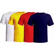 Camiseta Lisa Cores 100% Algodão - Kit C/ 10 Peças- Atacado