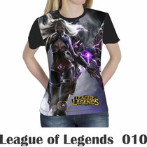 Camiseta Blusa Games League Of Legends Feminina Lol 010
