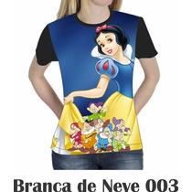 Camiseta Blusa Branca De Neve Disney Feminina