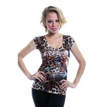 Roupas Femininas Camiseta Estampada Importada Rf1501