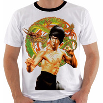 Camiseta Bruce Lee 9 Dragão The Dragon Artes Marciais