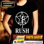 Camiseta Banda Rush Camisa Baby Look Feminina Rock Metal