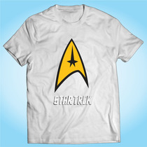 Camisa Star Trek - Jornada Nas Estrelas - Série - Tv - Filme