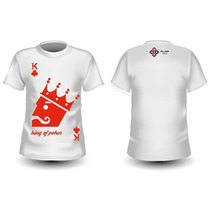 Camiseta King Of Poker Manga Curta 100% Algodão - Flop Team