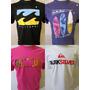 Kit 5 Camisetas De Marcas Quik, Dc, Oakley, Billa, Rip, Lost