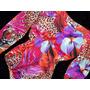 Body Feminino Redutor Mooah Costas Nuas Animal Print Onça